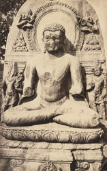 Statue of the seated Buddha at Bargaon.